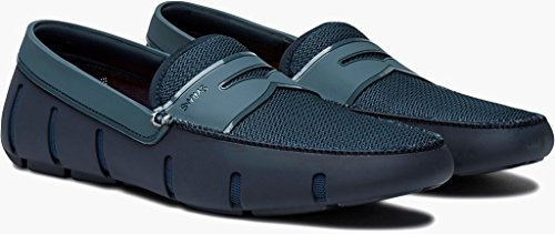 Swims Mens Penny Loafer Double Thread Navy Storm Size 10.5 by SWIMS