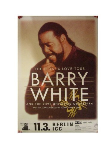 Barry White Poster The Icon Is Love Tour Berlin