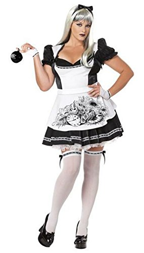 Dark Alice Adult Costume - Plus Size 2X (Dark Alice Wonderland Costumes)