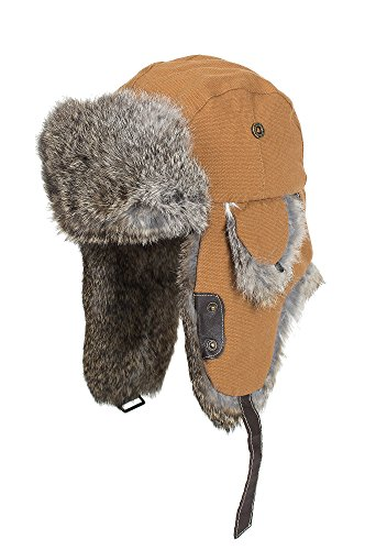 canvas-trapper-hat-with-rabbit-fur-trim-brown-natural-size-large-7-1-4-7-1-2