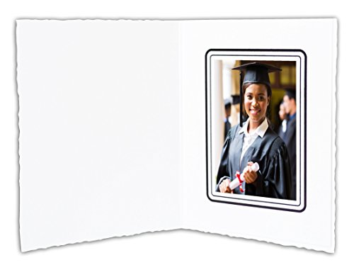 Golden State Art, Cardboard Photo Folder For a 2.5x3.5 Photo (Pack of 100) GS008 White Color by Golden State Art