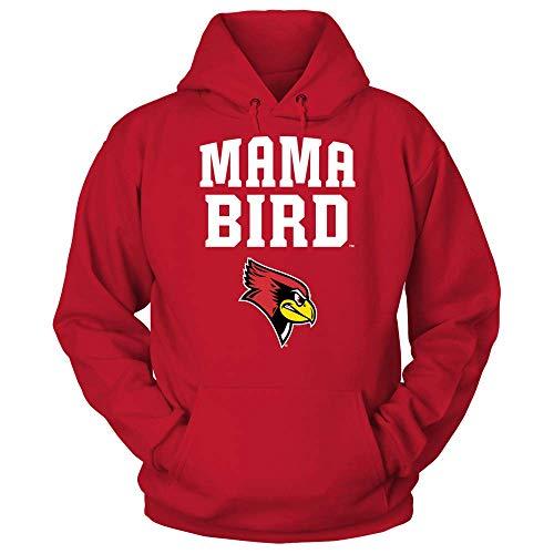 FanPrint Official Sports Apparel Unisex Hooded Sweatshirt Illinois State Redbirds Mama Bird, Size XL, ()
