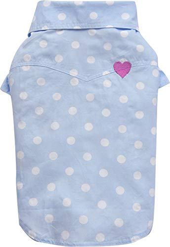Doggy Dolly Authentic Pet Dog Clothes Sky Blue Doggy Polo Shirt (M) ()