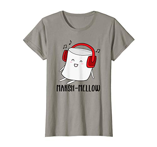 Cute Marshmallow With Headphones - TShirt For Woman And Kids T-Shirt