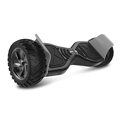CITY CRUISER Hoverboard with Bluetooth Speaker, LED Light by UL 2272 Certified Best Gift for Kids Black White