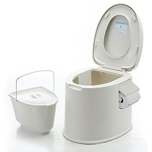 III- Bedside Toilet/Mobile Portable Toilet Stool/Multifunction Non-slip Seat Handy Toilet Stool Used For Pregnant Woman It Can Move Squatting Pan