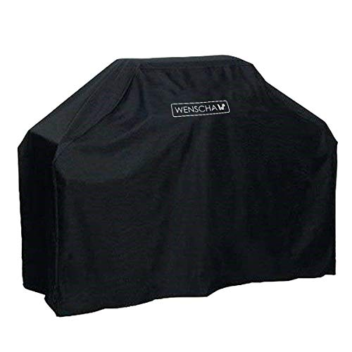 Wenscha BBQ Grill Cover, 57 Inch 210D Light Duty Gas Grill Cover, UV-Resistant & Moisture-Proof, 57x24x46 Inches, Fits Most Brands of Grill - Black (Grill Cover 46 Inch)