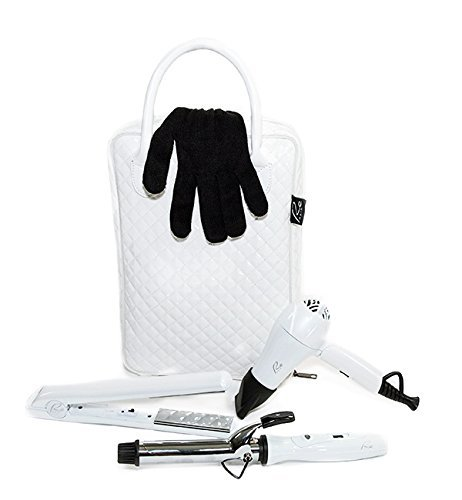 Re Plus Fashionable Travel / Styling Hair Tools Kit - White by ReHair