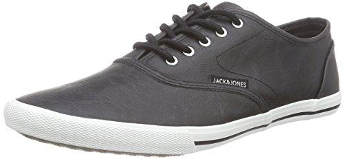 JACK & JONES JJSPIDER BASIC PU SNEAKER BLACK - zapatilla deportiva de material sintético hombre negro - negro