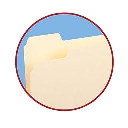 Smead File Folder, 1/5-Cut Tab, Legal Size, Manila, 100 Per Box (15350)