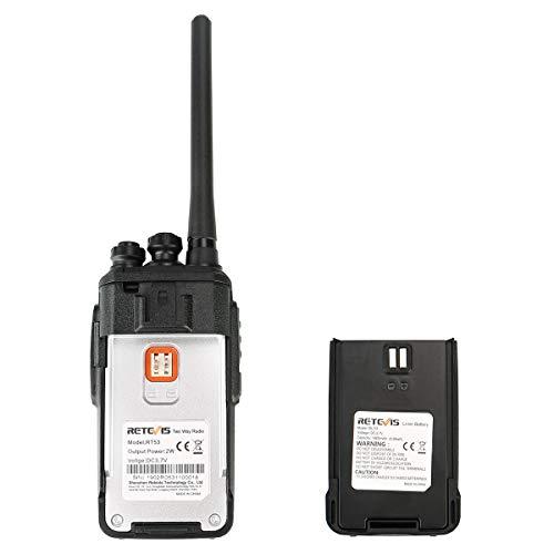 Retevis RT53 Digital 2 Way Radios Long Range Dual Time Slot 1024 CH 800  Contacts UHF Radios Encryption Emergency VOX Security DMR Radios (1 Pack)