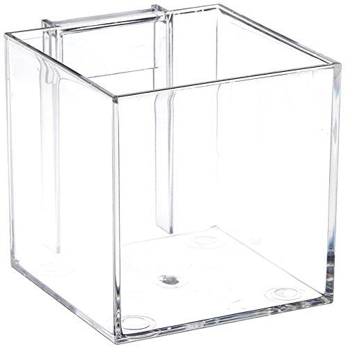 Azar Displays 256105  4-Inch Acrylic Cube Bin for Pegboard or Slatwall, Pack of 4 (Pegboard Bins)