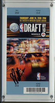 - Patrick Patterson AUTO NBA Draft NY 2010 Ticket Paperweight Houston Rockets