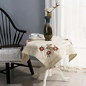 CH y CH paños para mesa de Navidad Clásica bordado mantel de 85 * 85 cm