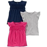 Carter's Girls 3-Pack Flutter Sleeve T-Shirt
