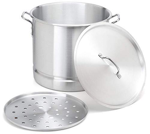 - Stock-Pot 8 Qt Aluminum Steam-Pot with Steamer Rack TamalesHeavy Duty Commercial Kitchen Restaurant Olla