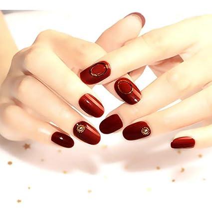 Spestyle - 24 uñas postizas cortas de color rosa para niñas ...