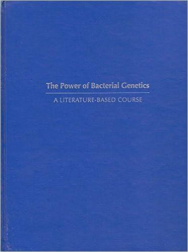 Bacterial Genetics Book