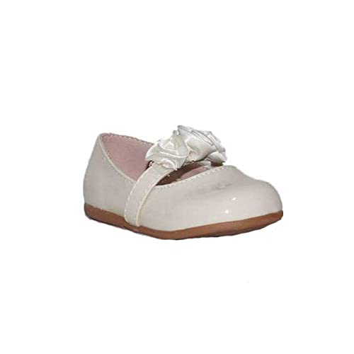 BUBBLE BOBBLE Bailarinas con Flores A991 Zapatos Comunión Niña Beige Princesa Bautizo Bodas Danza Bailarinas Merceditas: Amazon.es: Zapatos y complementos
