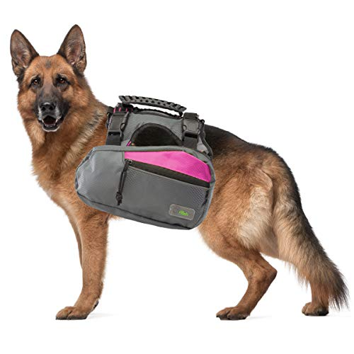 - Go Fresh Pet Trail Pack Backpack & Harness Dog Walking & Hiking Gear Saddlebags Pockets Reflective