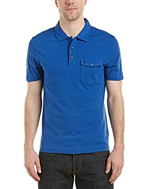 Mens Polo Shirt, Xxl, Blue