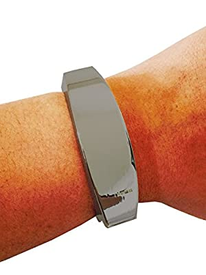 "Fitbit Bracelet for Fitbit Flex Activity Trackers - The TORY 8.5"" Inch Hinge Bangle Fitbit Bracelet (8.5"" Hematite)"