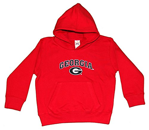 Little King NCAA Georgia Bulldogs Hooded Pullover, Youth Small, Red
