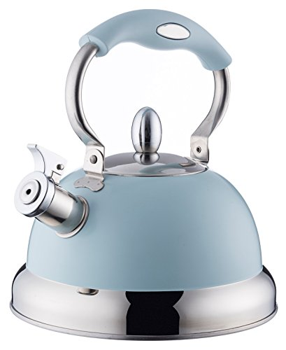 Typhoon Living Stovetop Whistling Kettle with Folding Handle, 2.5 Litre,...