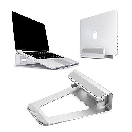 Baseltek Aluminum Vertical Laptop Stand Elevator Cooling Platform Pad for Macbook Air Pro and iPad Laptop Cooling Platform