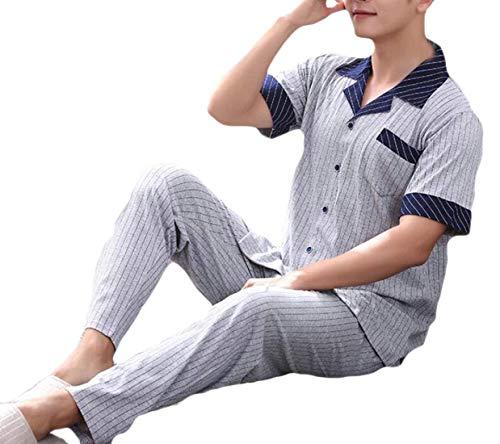Abiti In Pantaloni 3 Estiva Moda Due Taglie Top Pigiama Lunga Comode Manica A Righe Pezzi Classica Uomo Chemise E ASPTwS