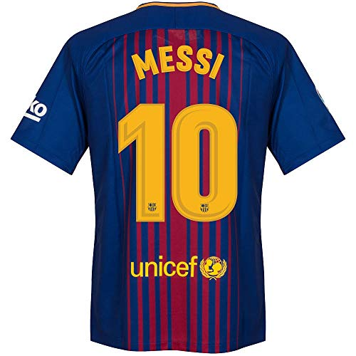 Barcelona Home Messi Jersey 2017 / 2018 (Official Printing) - S