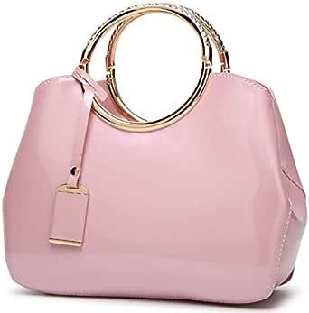 حقيبة للنساء-زهري - حقائب يد كبيرة بحمالة