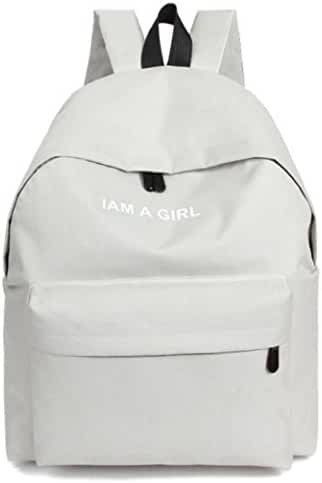 Unisex Outdoors Bags,Hemlock Canvas Backpack Bags Student Shoulder Bag (White)