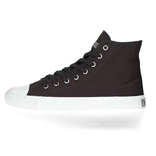 Ethletic Sneaker Vegan Hicut Collection 17 - Farbe Pewter Grey/Just White Aus Bio-Baumwolle