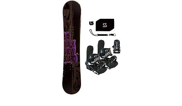 75dd493b62d0 Amazon.com   155cm Airwalk Logo Snowboard +Black Bindings+Leash+Stomp+  Burton Decal Package (Bindings Black L XL (fits 9-14 Men)