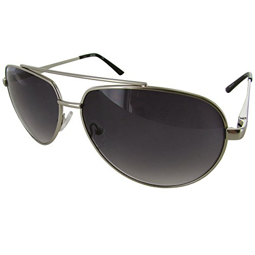 Kenneth Cole Reaction Unisex Silver Metal Aviator Sunglass KC1247 - Kenneth Cole Sunglasses Mens