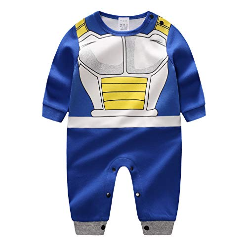 Dragon Ball Z Cosplay Long Sleeve Baby Boy and Girls Vegeta Rompers Costume Jumpsuit Baby Clothes -