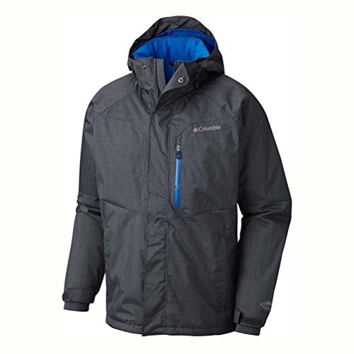 Columbia Men's Alpine Action Jacket, Graphite/Super Blue, 4X