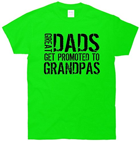 MOYI Great Dads Get Promoted To Grandpas T-Shirt Lime Green Xxxx-large ()
