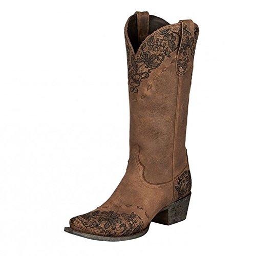 Stivale Corsivo Donna Jeni Lace Western Boot Brown / Nero