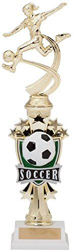 (Decade Awards Soccer Sport Motion All Star Trophy - Female | Classic Futbol Award | 14 Inch Tall - Customize Now)