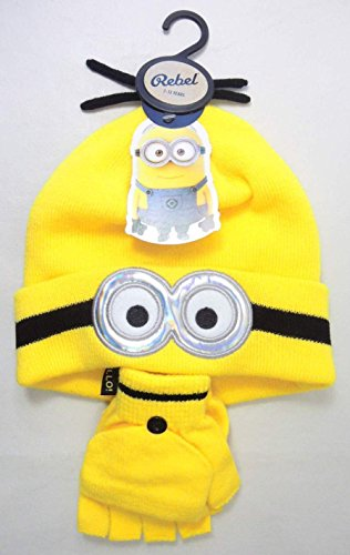 Despicable Me Minions Knit Hat & Gloves (Minion Gloves)