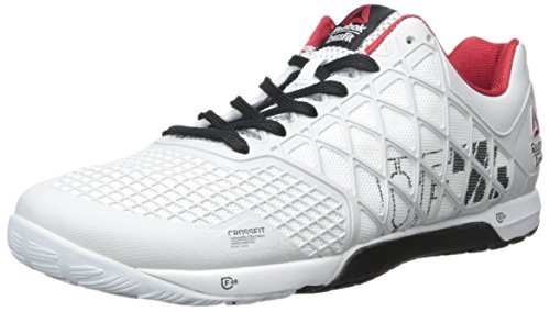 Reebok Men s Crossfit Nano 4.0 Porcelain Black White Excellent Red Sneaker  10.5 D (M) - Buy Online in Oman.  9ff68acf4a0