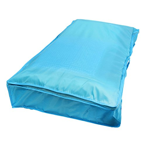 Clothes Quilt Bedding Duvet Zipped Handles Laundry(Blue)(S) - 2