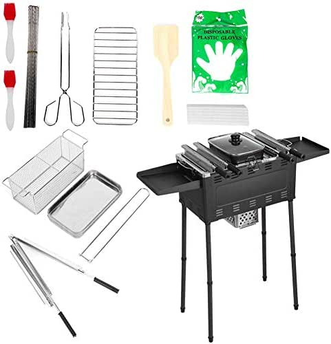 Zerone Outdoor Barbeque Stove Grills Burners Oven Garden Cooking Picnic Kit