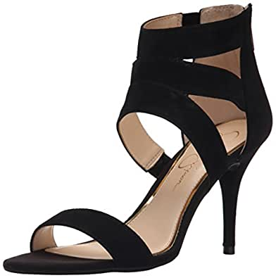 Jessica Simpson Women's Marlen Dress Sandal, Black, 6.5 M US