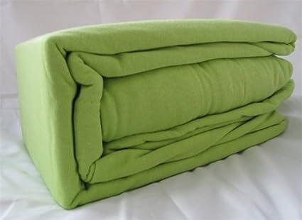 Amazon.com: 100% Cotton Twin Xl Jersey Knit Sheet Set   Lime Green