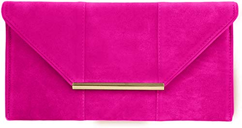 Faux Microsuede Envelope Clutch