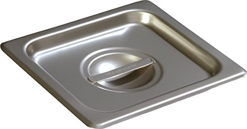 18 Carlisle 18 Light - Carlisle 607160C DuraPan Light Gauge Stainless Steel Sixth-Size Steam Table Food Pan Handled Cover (Pack of 6)