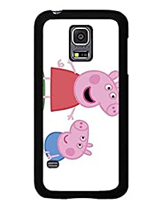 IRTHloi Funda Case Design With Peppa Pig, Animation Movie Pattern Cool Slim For Samsung Galaxy S5 Mini Cover